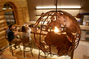 lampa miedziane globus