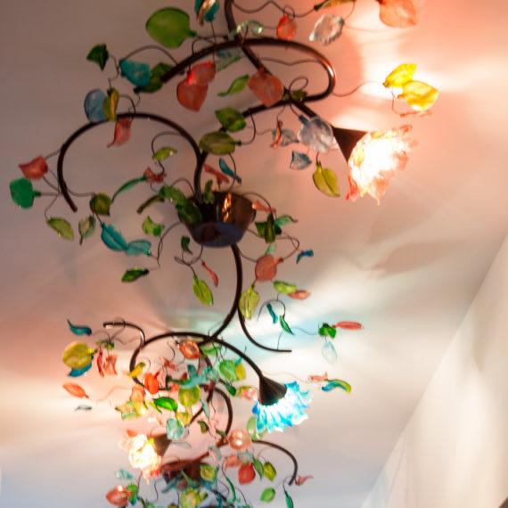 lampa kwiaty